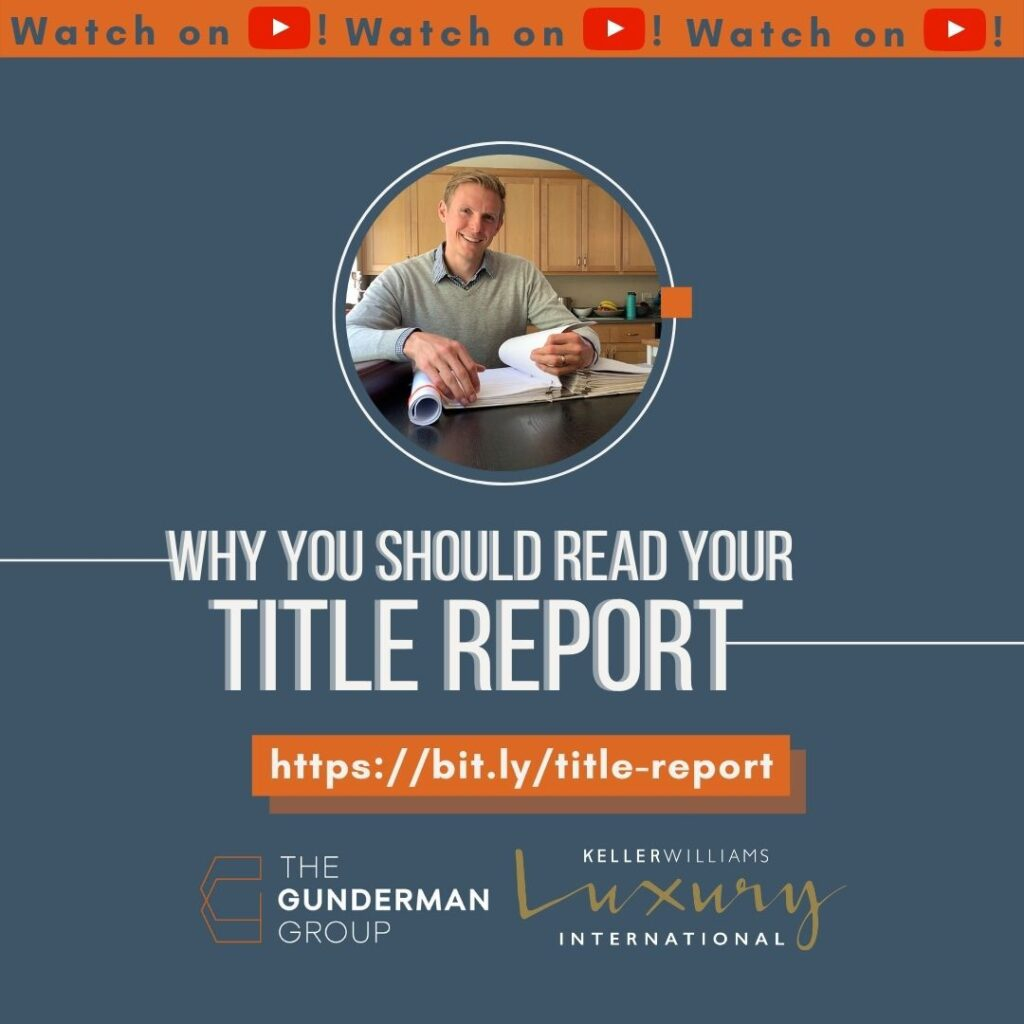 Why Read Your Title Report