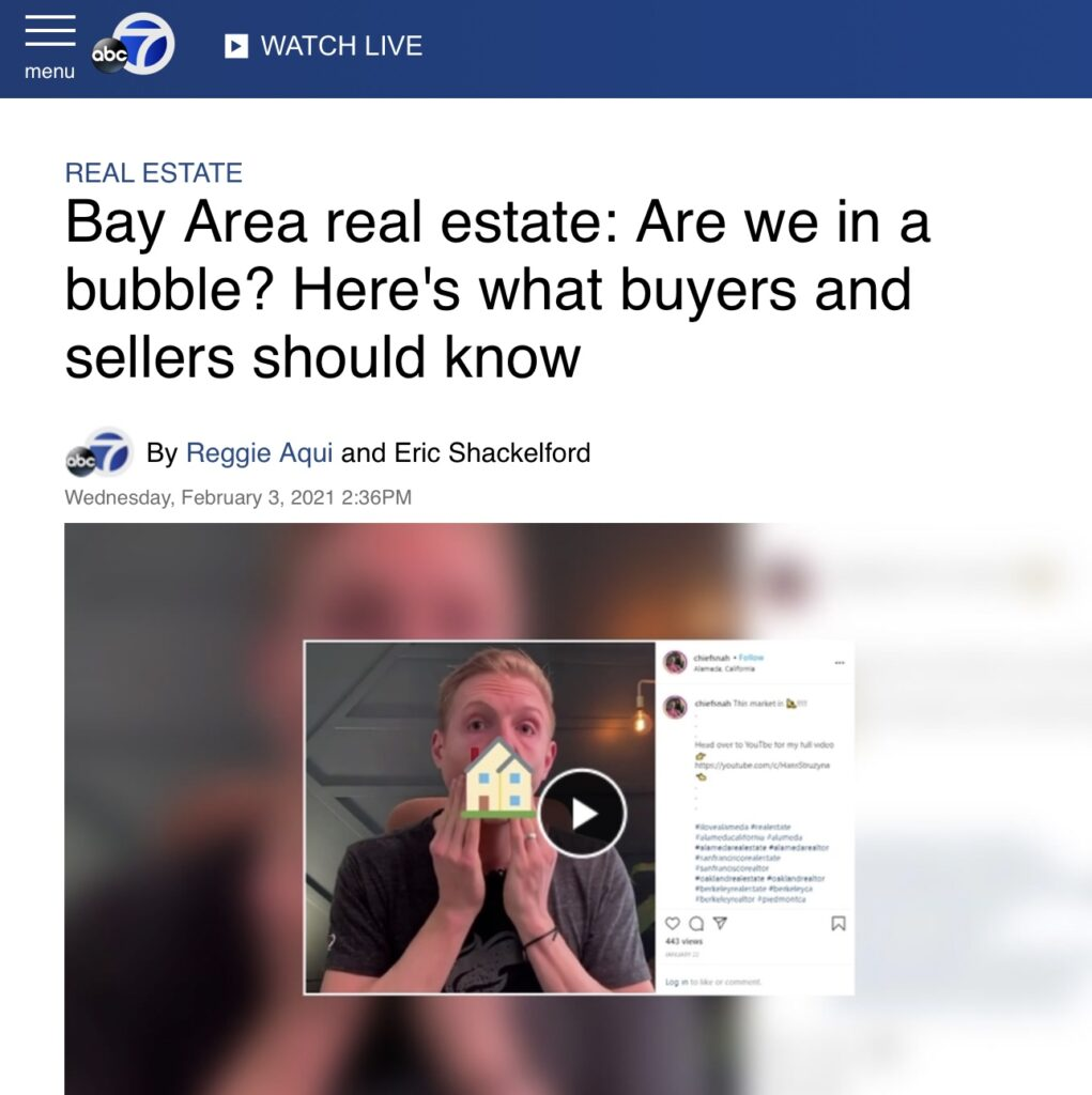 Real Estate Bubble | abc7 news interview