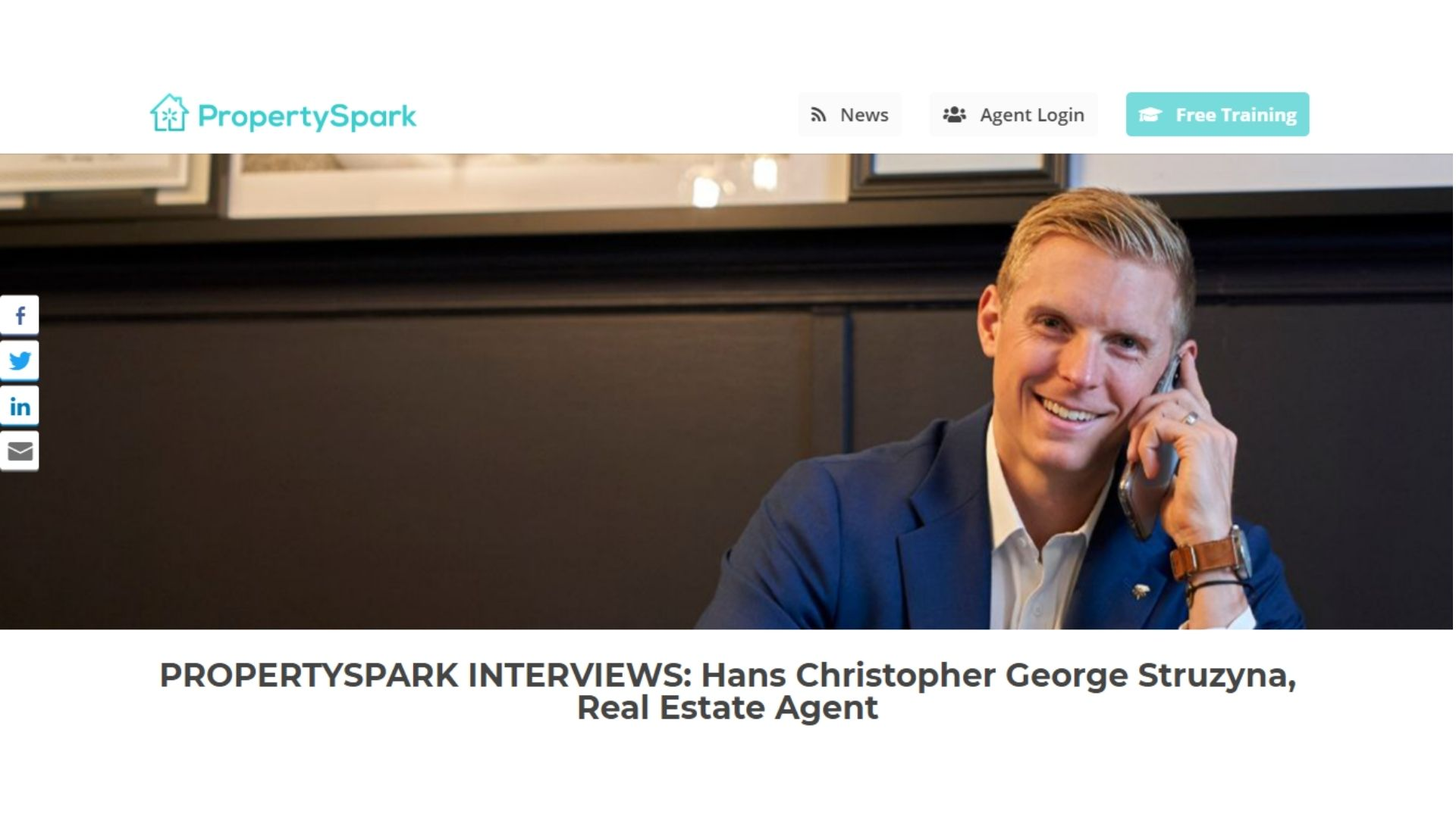 PropertySpark Top Real Estate Agent Interviews | Hans Christopher George Struzyna